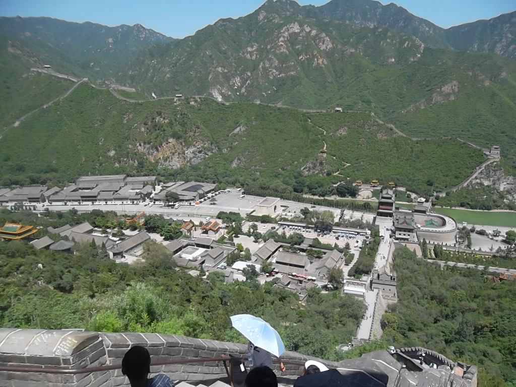 Areal View of JuYong Pass Great Wall of China