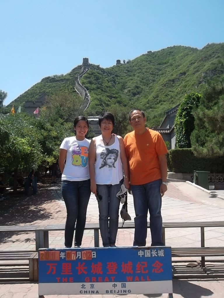 With my Parents at the Great Wall of China